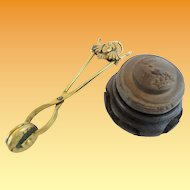 """19C  Button Die  and Covered Button Maker """"RARE & WONDERFUL"""""""