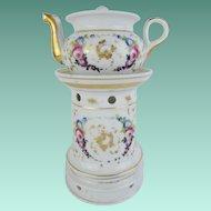 "Antique French Veilleuse Teapot  "" STUNNING SHAPE"""