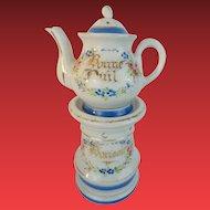 Antique French Veilleuse Teapot