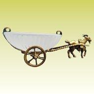 """Napoleon  III Opaline Goat Cart  """" A Palais Royal Treasure"""""""""""