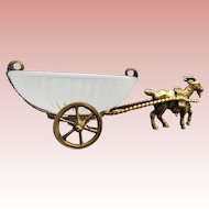 "Napoleon  III Opaline Goat Cart  "" A Palais Royal Treasure"""""