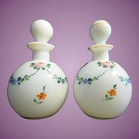 "Antique Czech Scent Bottles  "" HANDPAINTED"""