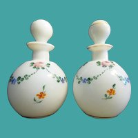 "Antique Czechoslovakia  Scent Bottles  "" HANDPAINTED"""