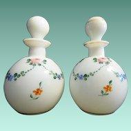 """Antique Czech Scent Bottles  """" HANDPAINTED"""""""