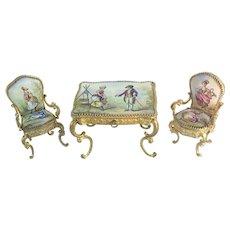 19C Austrian Viennese  Enamel  Miniature Set