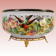 """Antique 15"""" French Porcelain Jardinière' """"BEAUTIFUL FOOTED BASE """""""