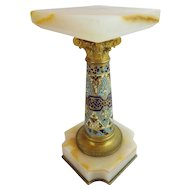 "Antique French Onyx Champlevé Pedestal ""GRANDEST & VERY FINE """