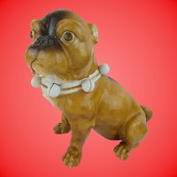 """Antique 9"""" PUG from Conte & Boehm  """"MAGNIFICENT"""""""