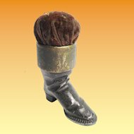 Wonderful Antique Boot Pin Cushion