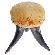 Charming Antique Horn Pin Cushion