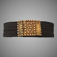 "19C Woven Hair Bracelet  "" Pinchbeck Clasp""   A WORK OF ART!"