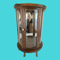 "Vintage Estate  Miniature Vitrines ""CURVED Glass Sides"""