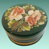 Antique French Green Opaline Casket Hinged Box