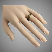"Antique 14KARAT  Hair Ring ""Exquisite and Rare"""