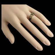 """Antique 14KARAT  Hair Ring """"Exquisite and Rare"""""""