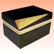 "Murano Black Glass Hinged Box wRare Bronze Mounts""Extraordinary & Beautiful"""