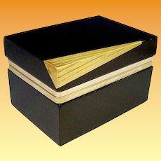 "Murano Black Glass Hinged Box wRare Bronze Mounts""Extraordinary & Beautiful"""