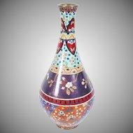 """Fabulous Antique 12"""" Cloisonné Enamel Vase"""