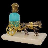 Palais Royal Horse Cart with a Blue Opaline Scent Bottle