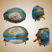 "GRANDEST Antique French Sevres Style Porcelain Casket ~  ""This is the BEST!"""