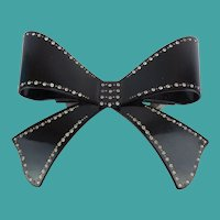 """5"""" French Jeweled Bow Barrette"""