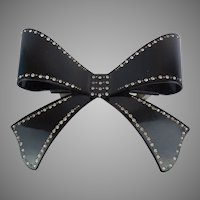 "Elegant  5"" French Jeweled Bow Barrette ""BIG, BOLD  & BEAUTIFUL"""