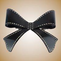 "Elegant  5"" French Jeweled Bow Barrette ""BIG, BOLD  & BEAUTIFUL"""