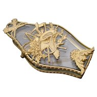 """Antique Empire Crystal and Bronze Desk Clip""""BEAUTIFUL"""""""