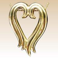Fabulous 14karat Yellow Gold Heart Pendant Slide