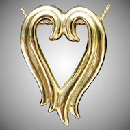 Fabulous 14karat Yellow Gold Heart Pendant Slide
