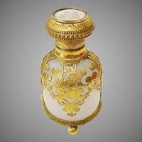 "Grand Tour White Opaline Scent"" Hand Painted Miniature Top"""