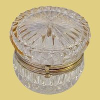 """Antique French Cut Crystal Hinged Box  """"Exquisite and Elegant"""""""