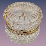 Antique French Cut Crystal Hinged Box.