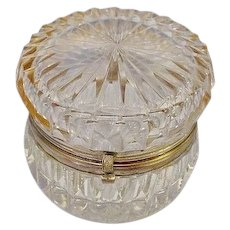 "Antique French Cut Crystal Hinged Box  ""Exquisite and Elegant"""