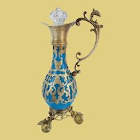 Palais Royal Blue Opaline Perfume Ewer