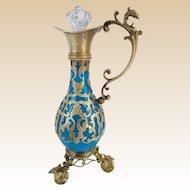 "Palais Royal Blue Opaline Perfume Ewer "" Magnificent Gilt Ormolu"""