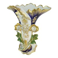 """Exquisite 12"""" Old Paris Porcelain Vase """"MAGNIFICENT COLORS"""""""