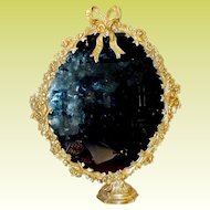 """Magnificent 25"""" French Bronze Mirror on the Stand """"BOW TOP"""""""