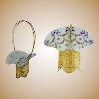 "16"" Antique Bronze Porcelain Basket ~ CHARMING"