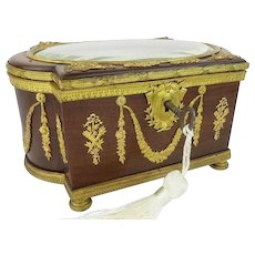 Antique French Empire Casket Hinged Box