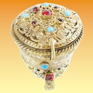 "Antique Austrian Jeweled Hinged Box ""A RARITY"""