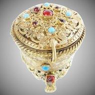 "Antique Austrian Jeweled Hinged Box ""A RARITY"""