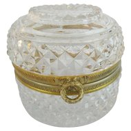 Antique French Cut Crystal Box