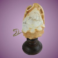"Beautiful Victorian Conch Shell Cameo  Lamp ""EXQUISITE CAVING"""