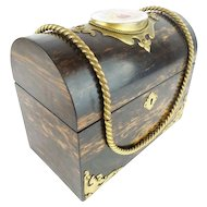 """Antique Dome Top Letter Box  ~ """" PUTTI Porcelain Plaque """"   ~ Magnificent"""