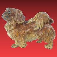 "Antique Austrian Cold Painted Bronze Pekingese Dog ""Stamped : AUSTRIA"""