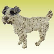 Antique Austrian Cold  Painted Bronze Fox Terrier Dog