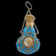 """Antique Palais Royal Blue Opaline Scent """"TWO MINIATURES"""""""