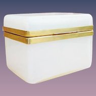 """Antique French Bulle de Savon Casket Hinged Box """"GLOWING with COLOR"""""""