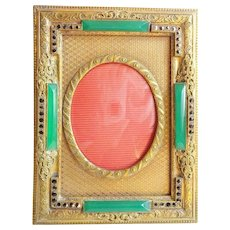 """Antique Jeweled Table top Frame """"BEAUTIFUL"""""""